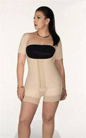 Full Body Shaper Mid Thigh with Arm Sleeves B003