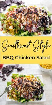 Healthy BBQ Chicken Salad – Salad Recipes