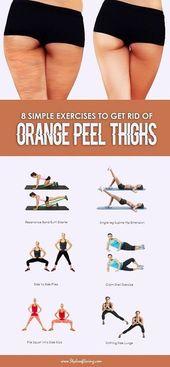 8 einfache Übungen, um Orange Peel Oberschenkel loszuwerden