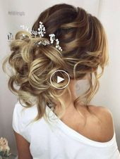 Wedding Hairstyles – Evening Dress Hairstyles – Messy Bun Models