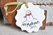 Personalized Family Christmas Salt Dough Ornament …