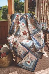 Stars and Stripes Log Cabin Quilt