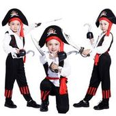 Pirates of the Caribbean Halloween costume for children Pirate Captain Cosplay domineering boy pirate costume
