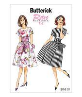 B6318 Butterick Schnittmuster 60er-Jahre Retro Kleid