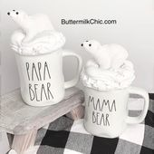Faux Whip Cream Mug Topper Mama Bear or Papa Bear