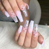 Kiss Gold Finger Gel Glam 24 Falsche Nägel zum Aufkleben Hot Pink Matt Finish Ballerina Sarg Style   – ɴᴀɪʟs