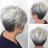 60 beste Frisuren und Frisuren für Frauen über 60 für jeden Geschmack – #KurzhaarfrisurenDamen50+ #KurzhaarfrisurenDamenbob #KurzhaarfrisurenDamend…