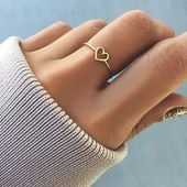 Herz Ring Rotgold