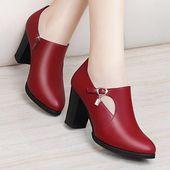 Zapatos de tacón alto de mujer con tacones cuadrados   – Closet Makeovers