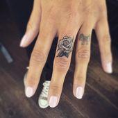 Perfect finger tat #fingertattoos