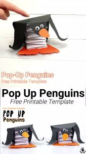 Pop Up Pinguin Handwerk