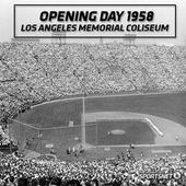 Los Angeles Coliseum 1958 Dodgers Baseball Let S Go Dodgers Baseball Park Mlb Stadiums