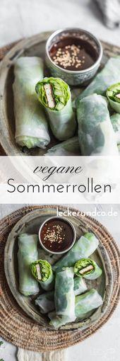 Vegane Sommerrollen | LECKER&Co | Foodblog aus Nürnberg