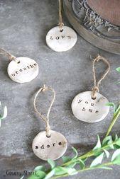 DIY Rustic Clay Tags – #Clay #DIY #dry #Rustic #Ta…