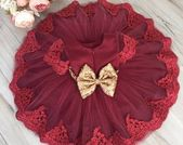 Sequin flower girl dress, embroidered flower girl dress, red baby girl birthday outfit, red party dress, cheap baby girl party dress – Heartbroken Soul