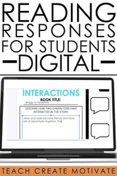 Reading Activities for Distance Learning