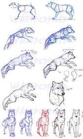 Lernen Sie, Tutorial Hund Wolf Skizze Bleistift zu zeichnen – # Bleistift #Hund # Lernen