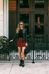 15 Möglichkeiten, einen Minirock diesen Herbst zu tragen – Frauen Mode