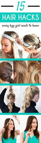 62+ Ideas Hairstyles for Girls Easy Hair Hacks for 2019 - #styles #hacks # Ideas #madchen - #new