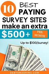 Die am häufigsten bezahlten Umfrageseiten, die Sie heute ausprobieren sollten   – Make Extra Money