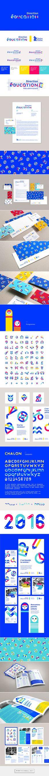 Educación – Diseño de marca en Behance – creado a través de pinthemall.net   – brand identity
