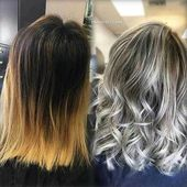 Icy-Blonde-on-Lob Verführerische Ideen für kurzes lockiges Haar im Sommer #cur …   – Kurze Haare Kupfer