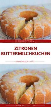 Pastel de mantequilla de limón 😍 😍 😍   – Küche und kochen