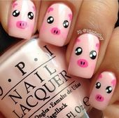 15 Pretty and Cute Pig Nails for Girls