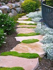 Jardin Paysager Decorer Son Jardin Avec De La Pierre Jardin En Gravier Jardins Terrasse Jardin