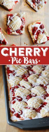 Kirschkuchen Bars Rezept – Cherry Pie Bars – Food and drink