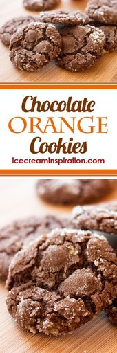 These Chocolate Orange Cookies are the perfect Christmas cookie. The orange peel…