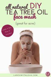 All Natural DIY Teebaumöl Face Wash (ideal für Akne) – Essential Oils for Kids