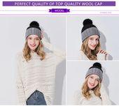 Xthree Women Winter Hat For Girl Knitted Hat Keep Warm Beanie Gorro Wool Rabbit Fur Cashmere Blend Brand Pom Pom Hat For Women – Fashion 2019/2020