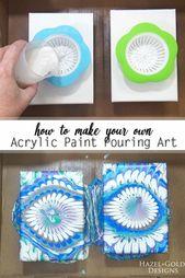So machen Sie Ihre eigene Acrylfarbe Gießen Art