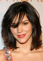 Medium-length hairstyles with bangs
