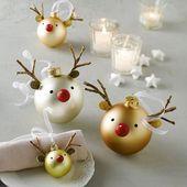 DIY: Elche aus Christbaumkugeln als Tischdeko #Weihnachten #DIY #Tischdeko #Chri… – marjeta