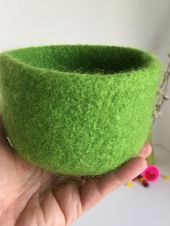 Medium Felted Wool Bowl, Felted Wool Bowl, Nesting Bowls, Home Decor, Housewarming Gift, Mother's Day Gift, Table Decor, Graduation Gift