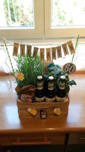Biergarten 60 Geburtstag Geschenk Stampin Up Geburtstag Garten Stampin Funny 60th Birthday Gifts 60th Birthday Gifts Birthday Diy