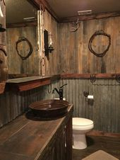 30 awesome rustic bathroom ideas for men 10