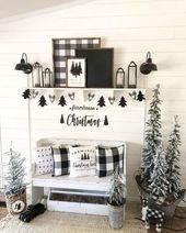 50+ Black and White Christmas Decoration Ideas to Create an Exhilarating Dreamscape