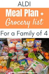 week 14 Grocery List and Meal Plan from Aldi – Organizational Toast