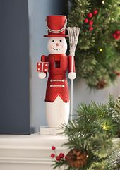 Home Accents® Merry & Bright 14-in. Red and White Snowman Nutcracker