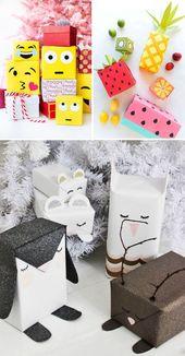 Kartons beliebiger Form: Fügen Sie dem Geschenkpapier einige Details hinzu.   – Verpackungen