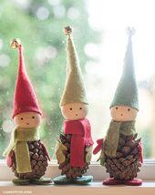 Remark fabriquer de magnifiques lutins à partir de cocottes de pin!
