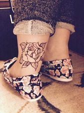 40 Ankle Tattoos for Females-ankle tattoo designs female, ankle tattoo ideas fem…