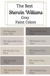 sherwin williams gray paint colors – #Colors #Gray…