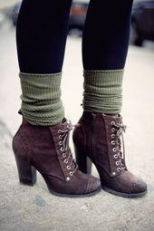 Moda femenina atractiva: 10 ideas de atuendos elegantes para la moda de invierno #styles de mujer …   – Schuhe