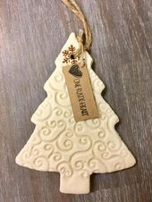 Rustic Salt Dough Christmas Tree Ornament – Simple…