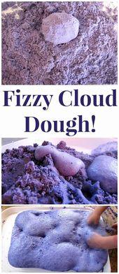 Flower Food Coloring Science Experiment Unique Fizzy Cloud Dough Experiment Taste Safe
