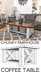 DIY Farmhouse Coffee Table perfect for the Home Li…